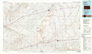 Kinsley topographical map