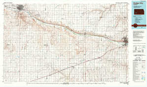 Dodge City 1:250,000 scale USGS topographic map 37100e1