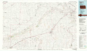 Hugoton 1:250,000 scale USGS topographic map 37101a1