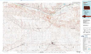 Ulysses 1:250,000 scale USGS topographic map 37101e1