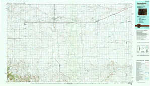 Springfield 1:250,000 scale USGS topographic map 37102a1