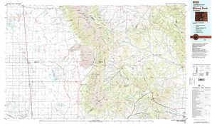 Blanca Peak topographical map