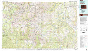 Silverton topographical map