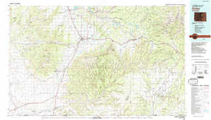 Cortez topographical map