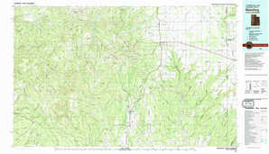 Blanding topographical map