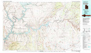 Navajo Mountain 1:250,000 scale USGS topographic map 37110a1