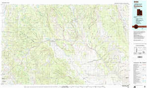 Escalante 1:250,000 scale USGS topographic map 37111e1
