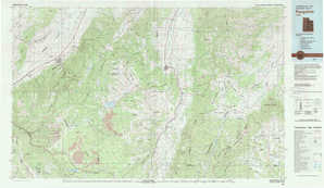 Panguitch topographical map