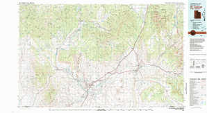 Saint George topographical map