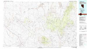 Pahute Mesa topographical map