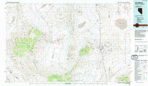 Goldfield topographical map