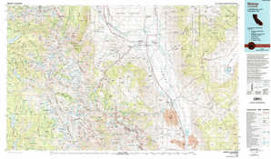 Bishop topographical map