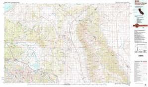 Benton Range topographical map