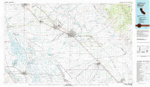Merced topographical map