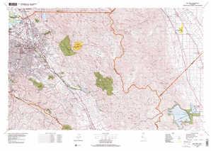 San Jose topographical map