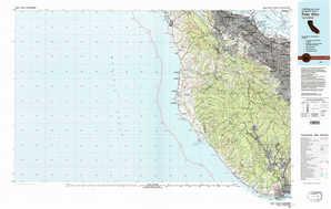 Palo Alto topographical map