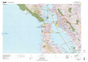 San Francisco topographical map