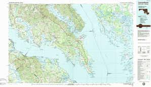 Leonardtown 1:250,000 scale USGS topographic map 38076a1