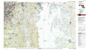 Washington East 1:250,000 scale USGS topographic map 38076e1