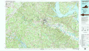 Fredericksburg 1:250,000 scale USGS topographic map 38077a1