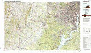 Washington West 1:250,000 scale USGS topographic map 38077e1