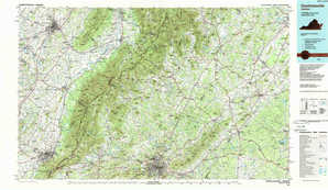 Charlottesville topographical map