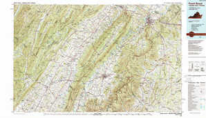 Front Royal topographical map