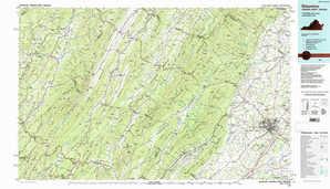 Staunton topographical map