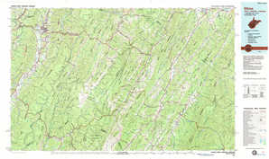 Elkins topographical map