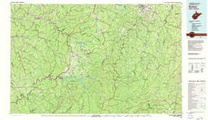 Sutton topographical map