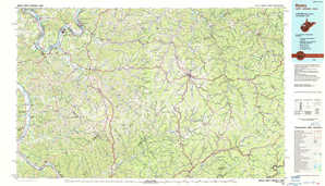 Ripley topographical map