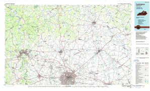 Lexington topographical map