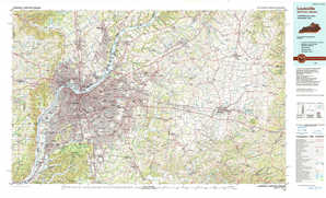 Louisville topographical map