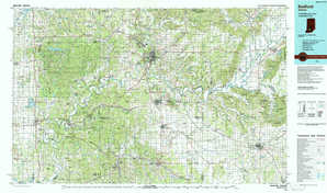 Bedford topographical map