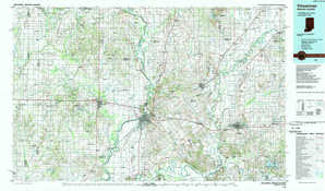 Vincennes topographical map