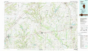 Olney topographical map