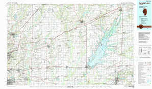 Carlyle Lake topographical map