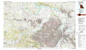 Saint Louis topographical map