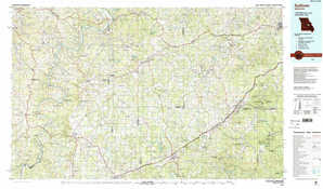 Sullivan topographical map