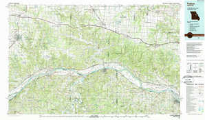 Fulton topographical map