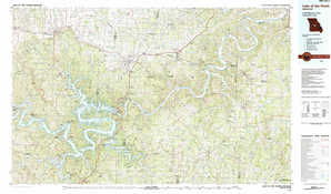 Lake Of The Ozarks topographical map