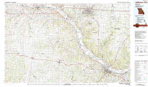 Jefferson City topographical map