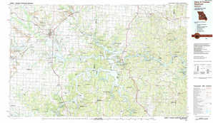 Harry S Truman Reservoir topographical map