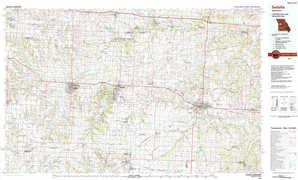 Sedalia topographical map