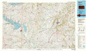 Garnett topographical map