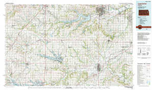 Lawrence topographical map