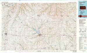 Council Grove 1:250,000 scale USGS topographic map 38096e1