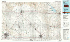 Hutchinson 1:250,000 scale USGS topographic map 38097a1