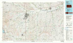 Salina topographical map