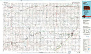 Larned topographical map